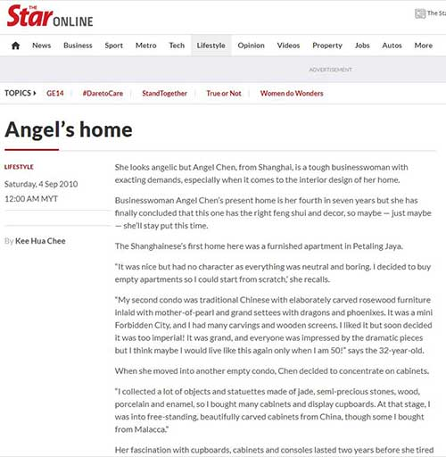 Angel House featured in thestar