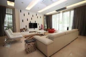 cyberjaya aspen garden residence bungalow living room