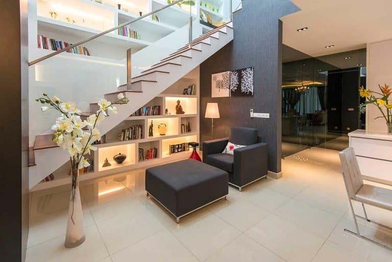 cyberjaya evergreen bungalow staircase