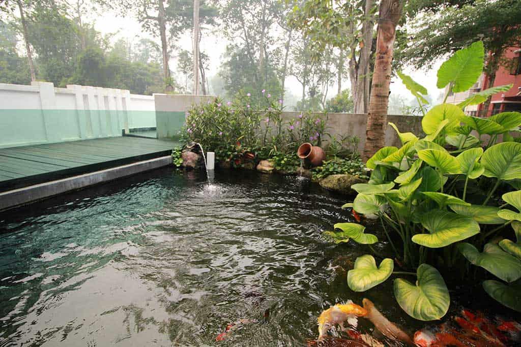rawang templar park bungalow pond
