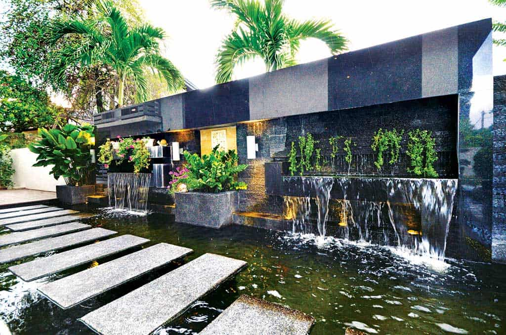 ttdi bungalow water feature