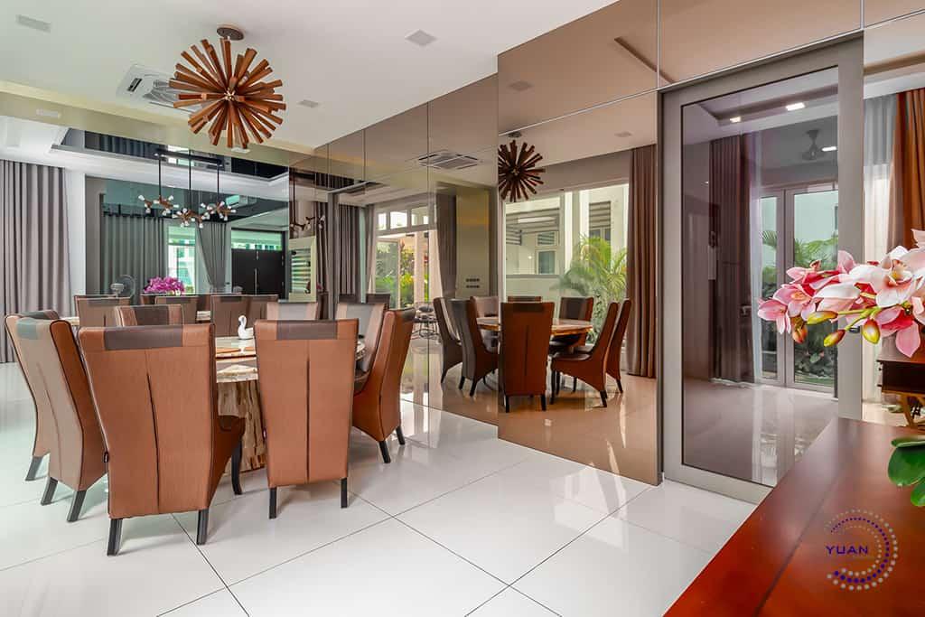 ambrosia kinrara puchong dining area round table