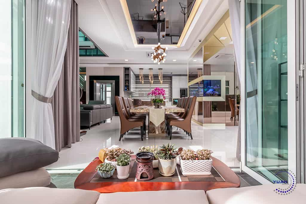ambrosia kinrara puchong dining area view from outside