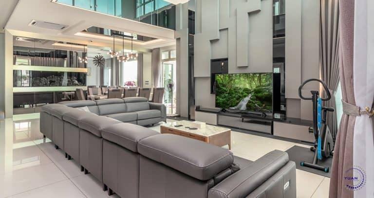 ambrosia kinrara puchong living room feature