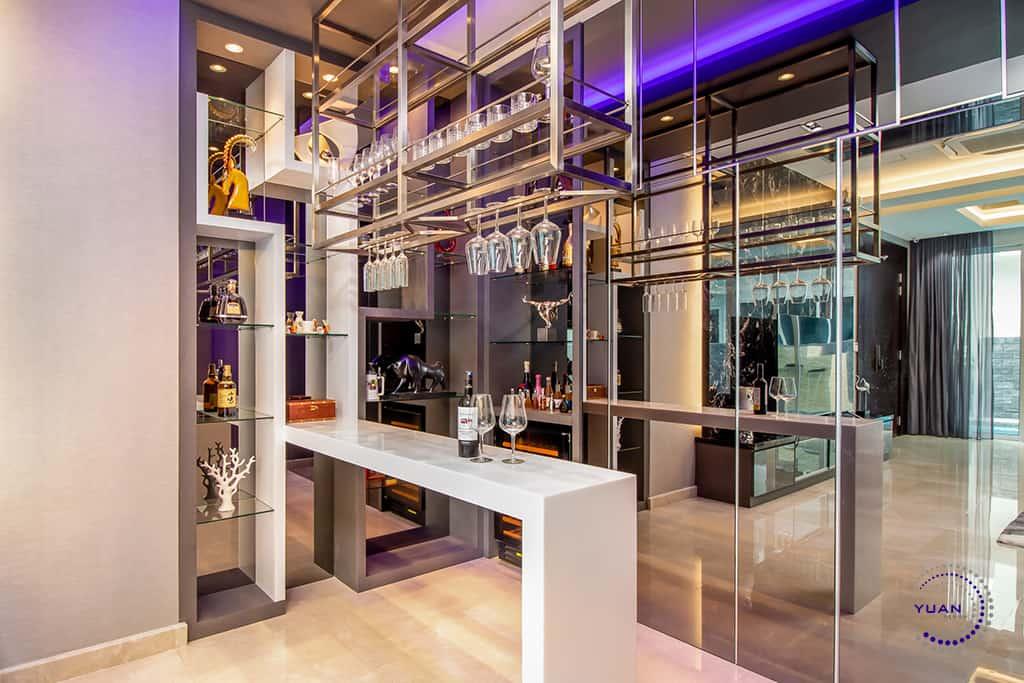 aspen garden residence cyberjaya bar counter