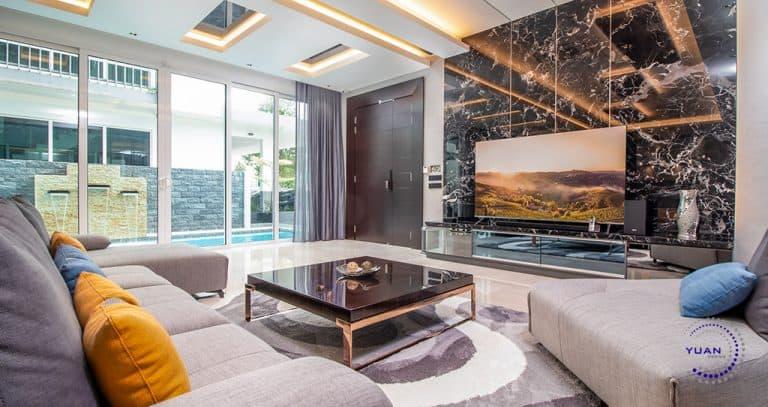 aspen garden residence cyberjaya living room feature