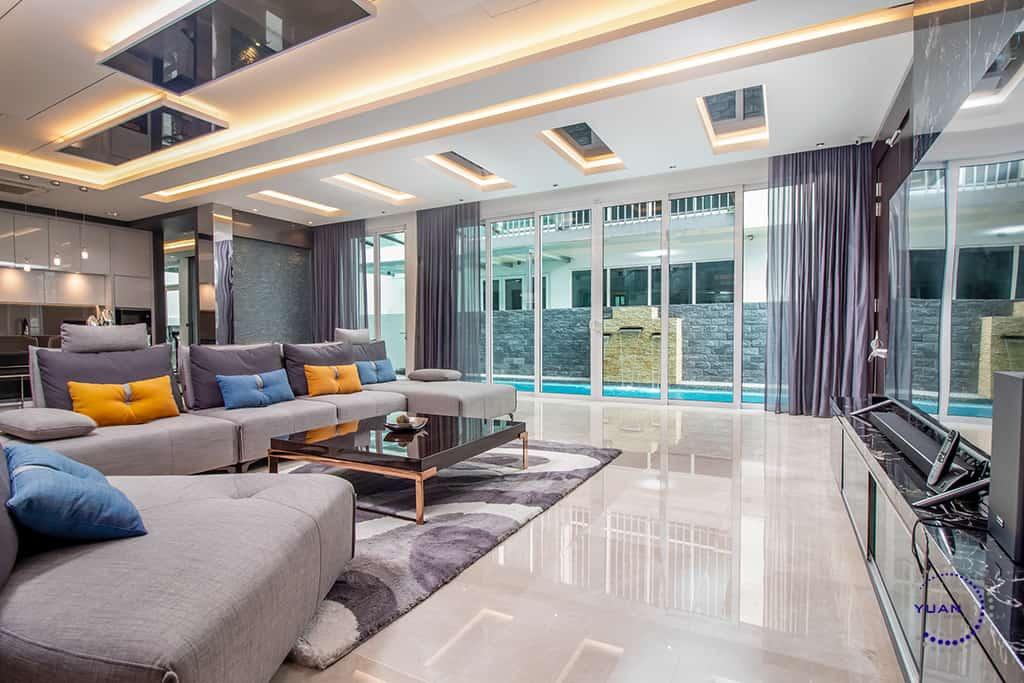 aspen garden residence cyberjaya living room front view