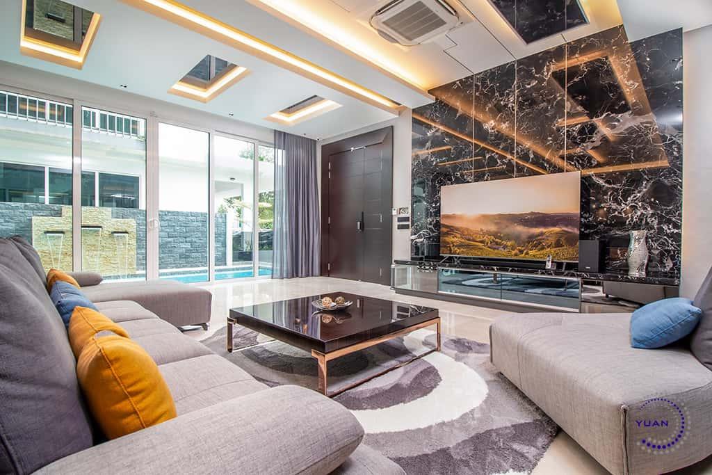 aspen garden residence cyberjaya living room