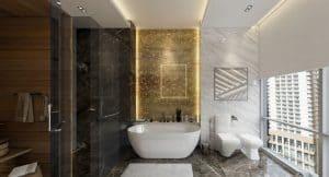 a modern classy bathroom